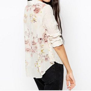 Free People Party In The Back Button Down Shirt